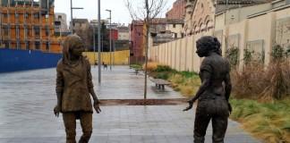estatua cal font teresa riba - Foto ajuntament d'Igualada - La Veu de l'Anoia - VeuAnoia.cat
