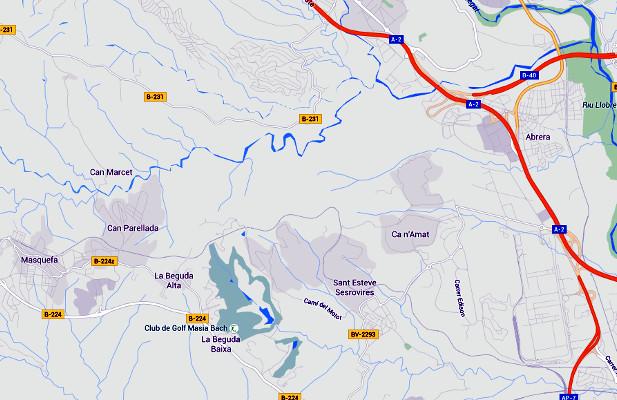 tram masquefa abrera pendent b-40 - Foto Google Maps - La Veu de l'Anoia - VeuAnoia.cat