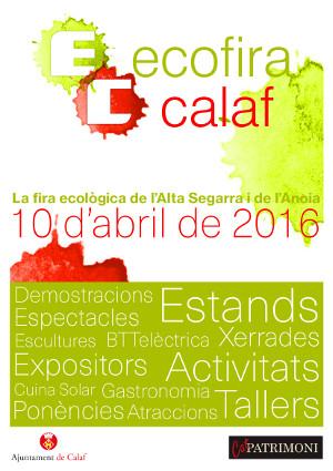 cartell Ecofira Calaf - La Veu de l'Anoia - VeuAnoia.Cat