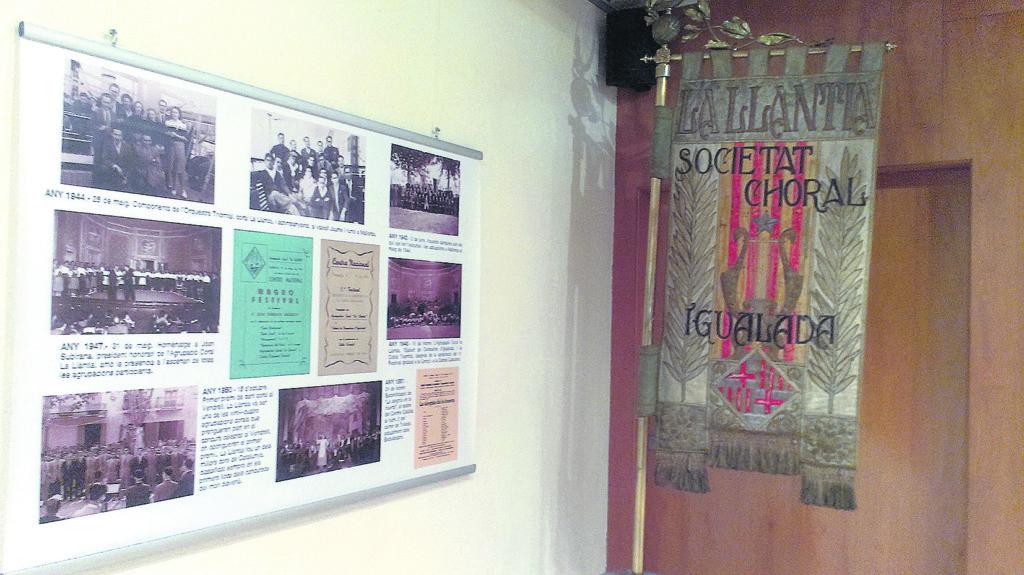 Exposició a la Biblioteca Central d'Igualada.