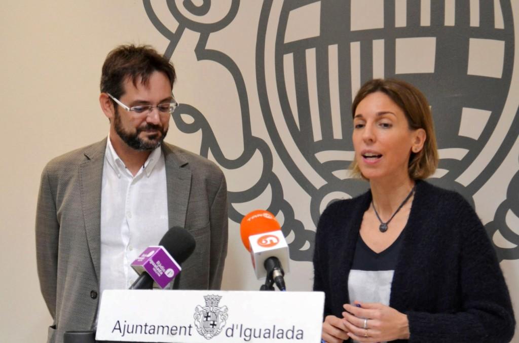 David Alquezar i Carme Chacón.