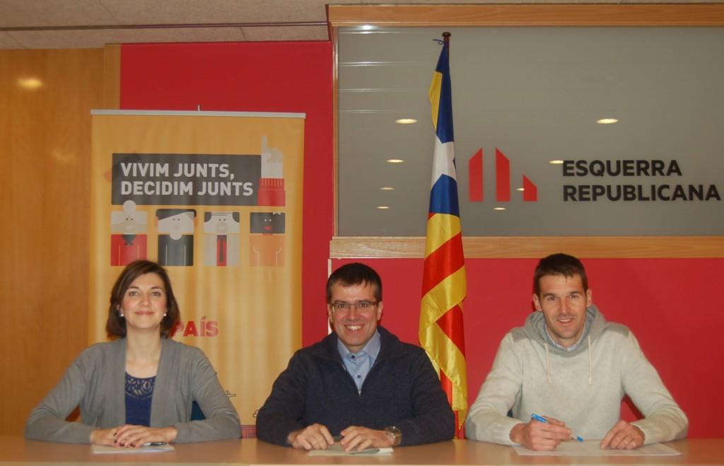 Carolina Telechea, Josep Maria Palau i Enric Conill.