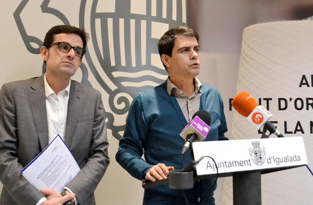 David Garcia Fagepi Marc Castells - Foto Ajuntament d'Igualada - La Veu de l'Anoia - VeuAnoia.cat