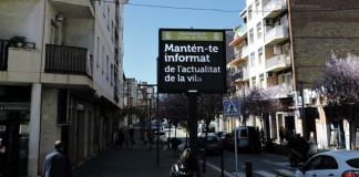 pantalla informativa Piera - La Veu de l'Anoia - VeuAnoia.cat