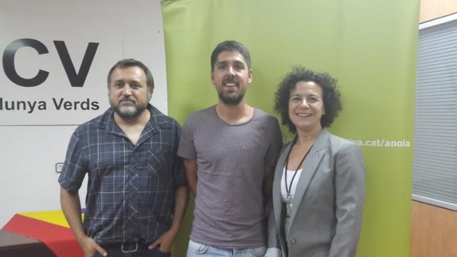 Marcel Mateu i Montserrat Montaña, nous coordinadors comarcals d'ICV Anoia