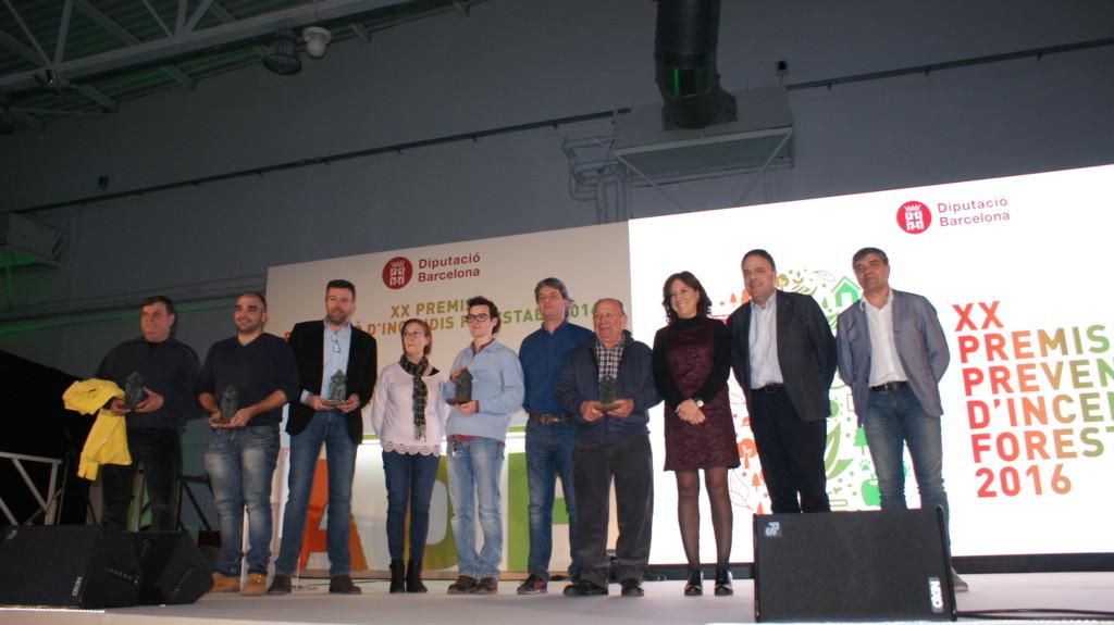 Àlex Carafí, Piera i Òscar Calafell, el Bruc, segon i tercer de l'esquerra.